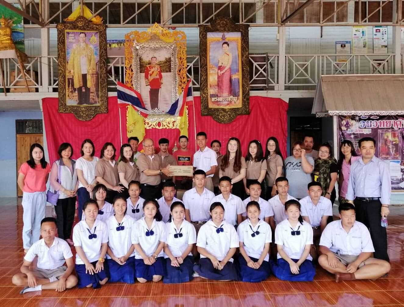 จิตอาสา ร่วมบริจากสิ่งของอุปกรณ์การเรียน และทุนการศึกษาแก่เด็กใน อ.แม่สะเรียง จ.แม่ฮ่องสอน 17 กุมภาพันธ์ 2562